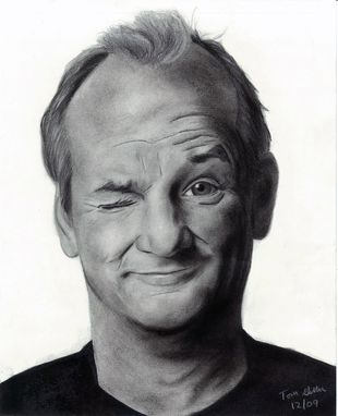 Custom Made Portrait Drawing Of Bill Murray (1 Subject)