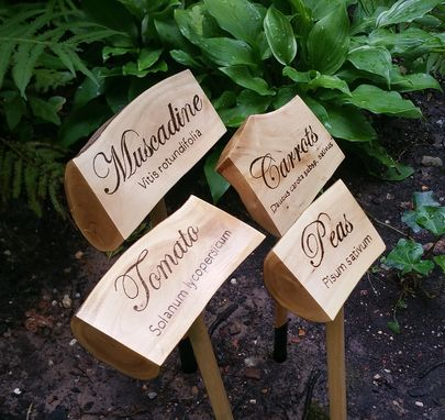 Custom Made Rustic Vegetable Garden Markers