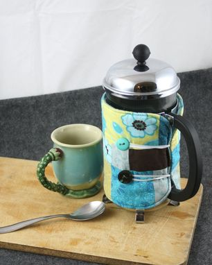 Custom Made French Press Coffee Cozie
