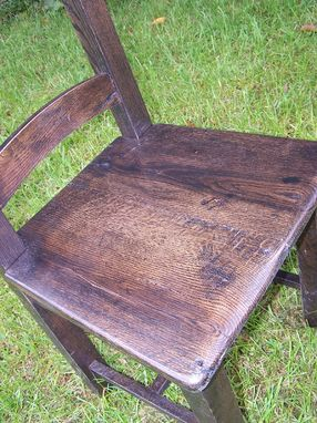 Custom Made Captain's Dining Chairs From Reclaimed Barn Wood