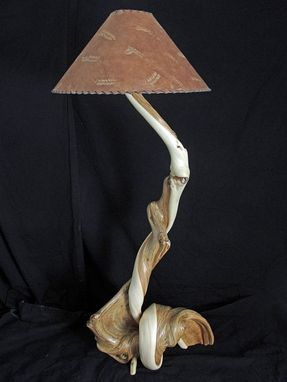 Custom Made Rustic Wood Floor Lamp Made From Twisted Juniper