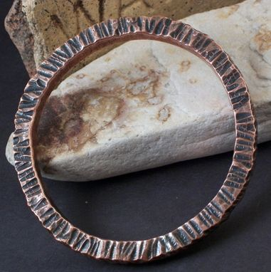 Custom Made Square Rod Bangle In Copper