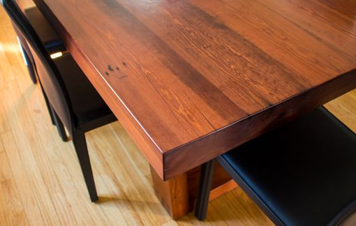 Custom Made Reclaimed Heart Pine Dining Table