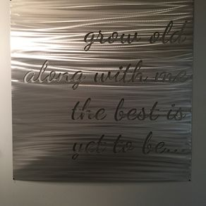 Metal Quote Sign By Ryan Ferkingstad