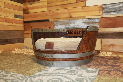 Buy A Custom Personalized Wine Barrel Dog Bed Made To