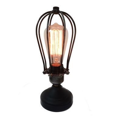 Custom Made Industrial Big Table Lamps Vintage Style