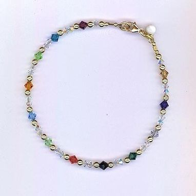 Custom Made You Are Beautiful ~ Swarovski Crystal Sterling Silver Bracelet
