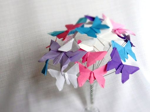 Custom Made All Aflutter - Origami Paper Butterfly Bouquet