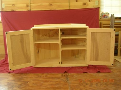 Custom Made Custom Pine Corner Entertainment Center
