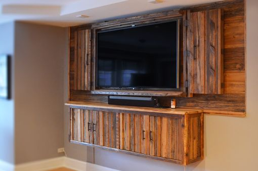 Custom Made Rustic Reclaimed Wall Media Center