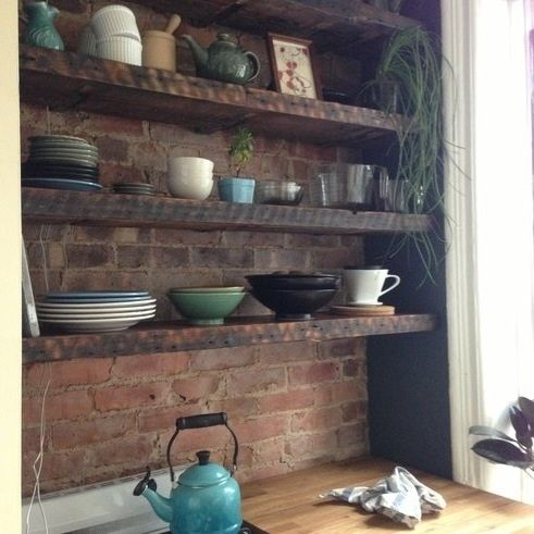 Custom Reclaimed Floating Shelves By Elias Custom Furniture And - Reclaimed Wood Floating Shelves WB Designs