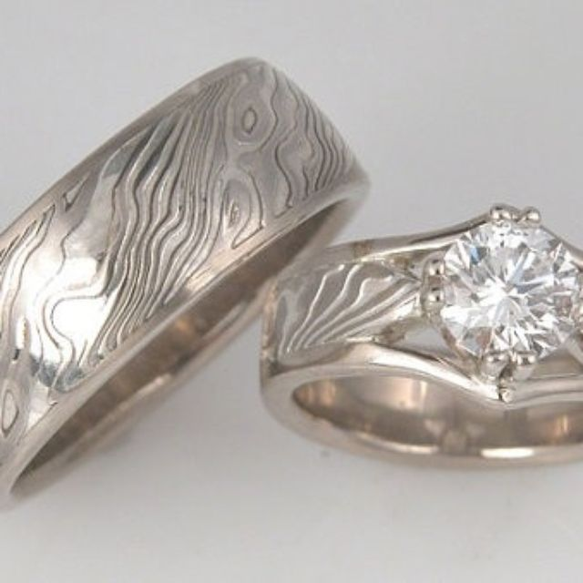 Mokume Gane Rings Mokume Wedding Bands and Engagement Rings