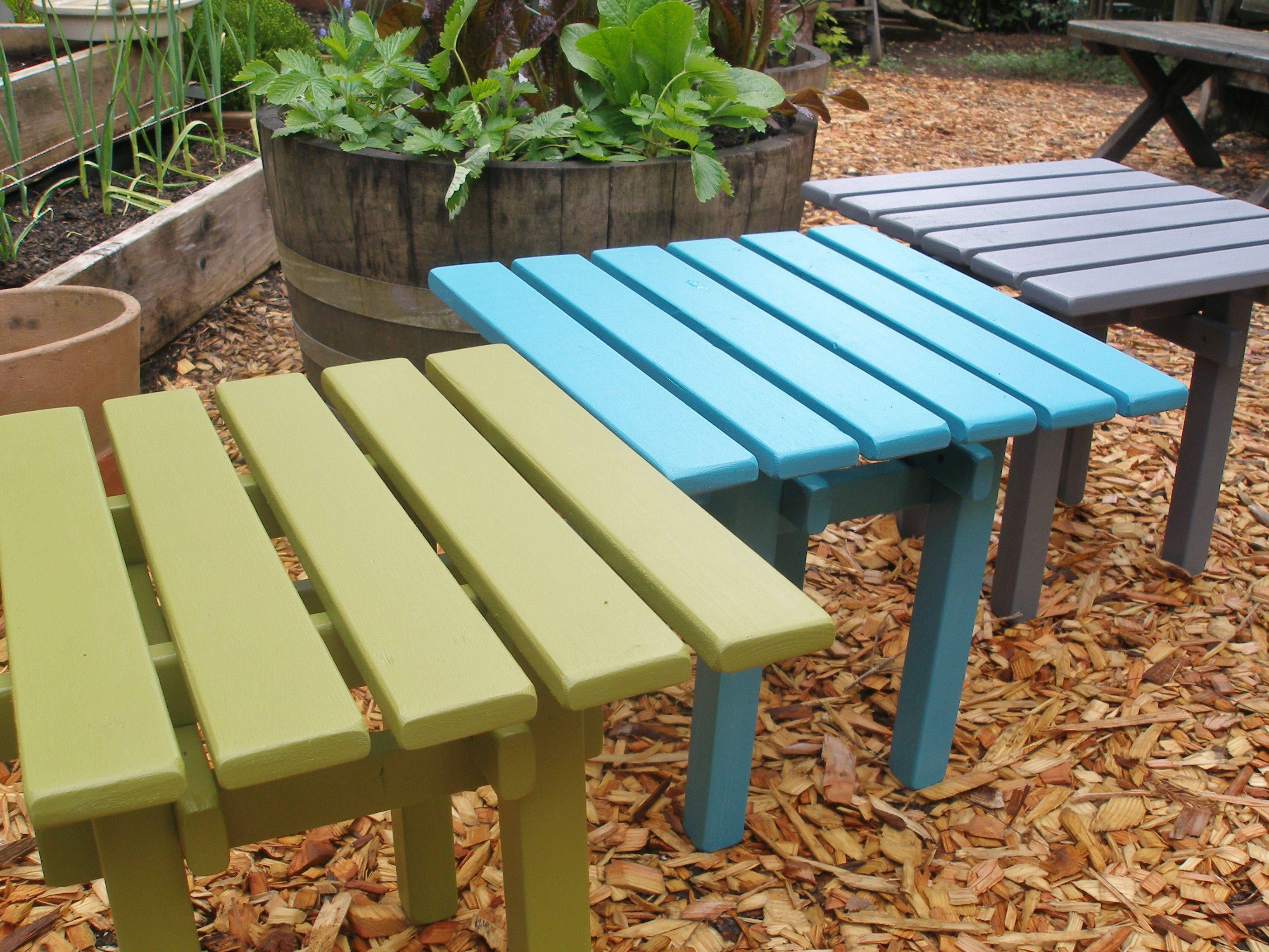 A Custom Made Outdoor Side Table End Square