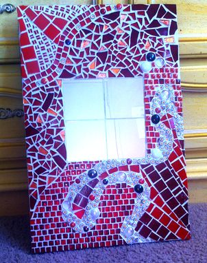 Custom Made Red Mosaic Mirror