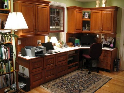 Custom Made Home Office In Maple