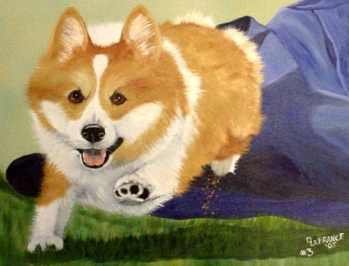 Custom Made Dogs Painted In Oils On Canvas, Wood, Slate, Or Fabric