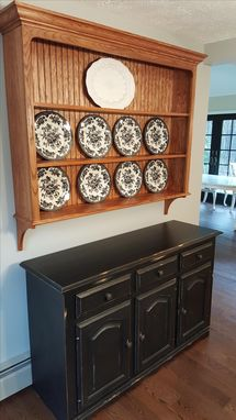 Custom Made Oak China Plate Display Rack