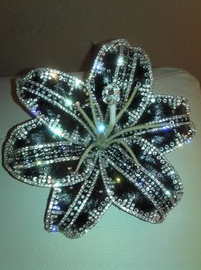Custom Made Custom Large Black And Crystal Lily Created For Jill Scott
