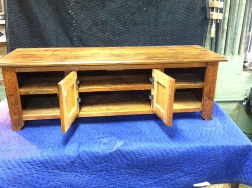 Custom Made Reclaimed Pine Flat Screen Media Cabinet