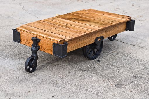 Custom Made Factory Cart Coffee Table