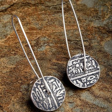 Custom Made Sterling Silver Disc Earrings