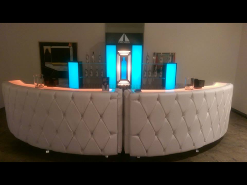 Custom Made Custom Contemporary Bar Design With Color Changing Led Lights
