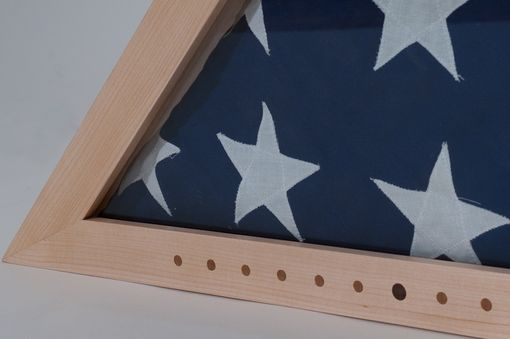 Custom Made Maple Flag Box