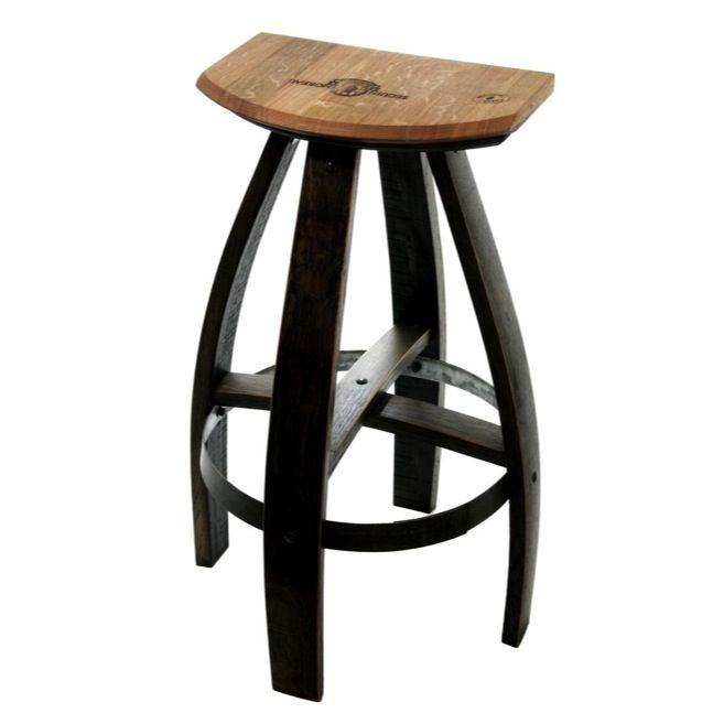 Custom Made Industrial Style Bar Stools In Ebony