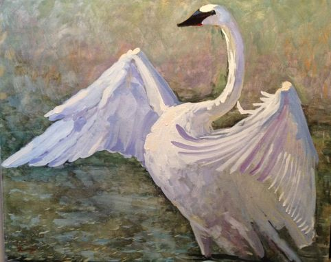 Custom Made Oil Painting- Stretching Swan