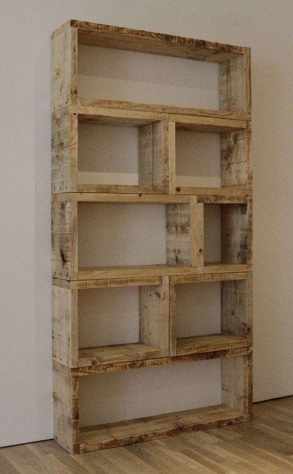 Custom Made Rustic Wood Book Shelf
