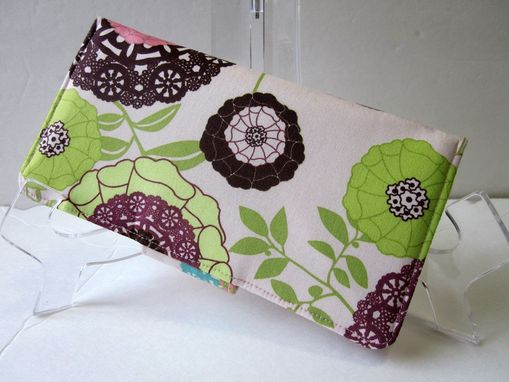 Custom Made Handmade Women Wallet Modern Floral Lacework With Dots