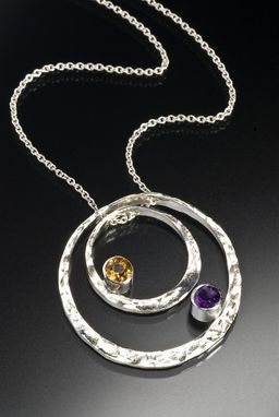 Custom Made Concentric Mother Necklace With Faceted Stones