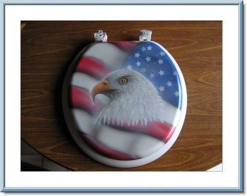 Custom Made Custom Airbrushed Toilet Seats.