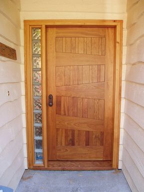 Custom Made Wood Door In Brazillian Cherry