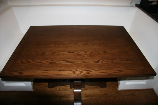 Custom Made White Oak Pedestal Dining Table