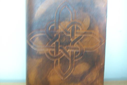 Custom Made Custom Leather Journal With Celtic Cross Design