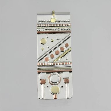 Custom Made Money Clip - Totem In Sterling Silver, Gold, And Copper