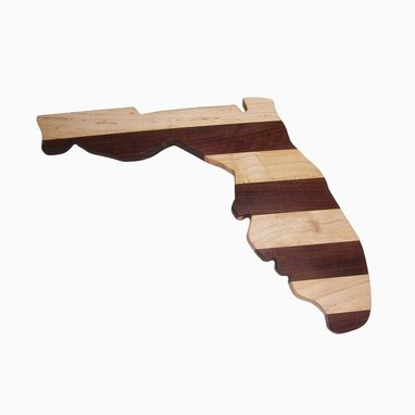 Custom Made State Of Florida Maple And Walnut Cutting Board