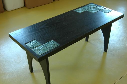 Custom Made Simple Shaker Inspired Coffee Table Using Motawi Tiles