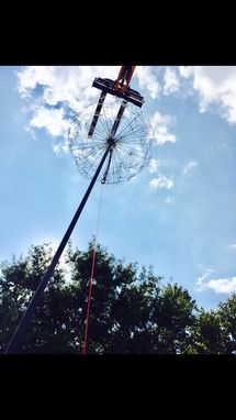 "Custom Made ""A Waste Of Breath"" Custom Large Scale Metal Dandelion Sculpture"