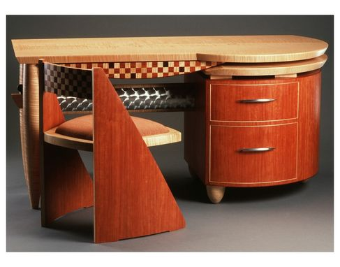 Custom Made Checkerboard Desk And Chair