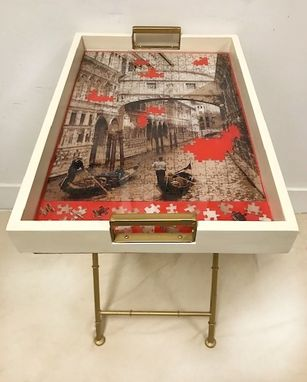 Custom Made Venice Puzzle Folding Table