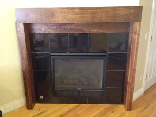 Custom Made Solid Walnut Mantle