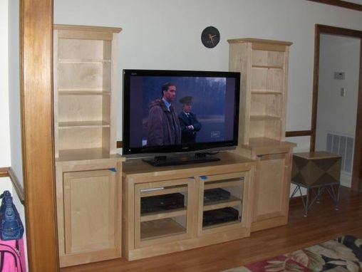 Custom Made Movable Entertainment Center In Maple. Specially Made To \