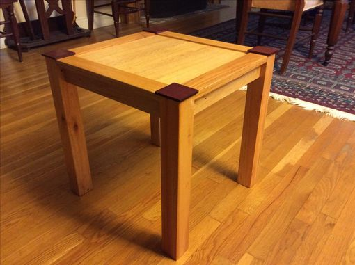 Custom Made Repurposed Wooden End Table