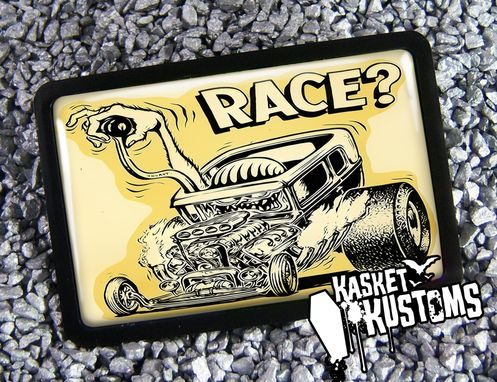 Custom Made Hot Rod Race Rat Fink Retro Art Belt Buckle Bb-341-Br