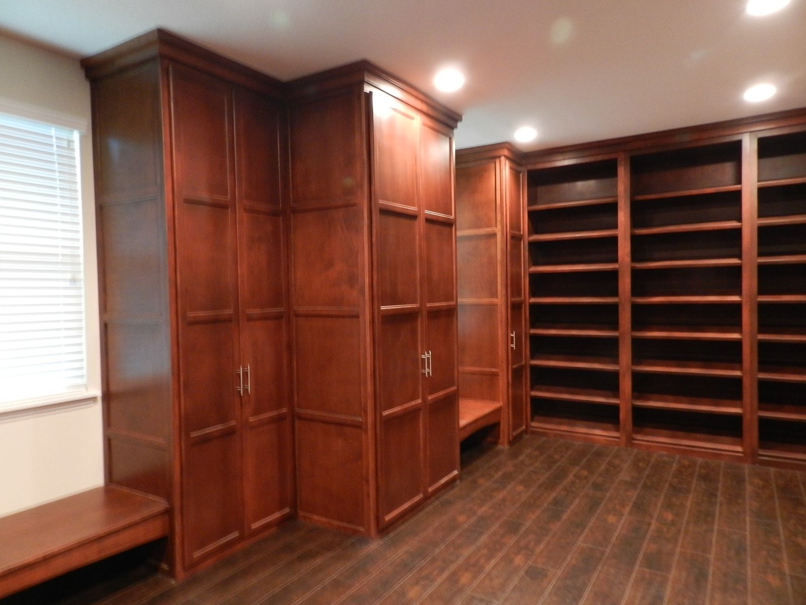 Custom made walk in closet by terry 39 s custom woodwork for His and hers walk in closet