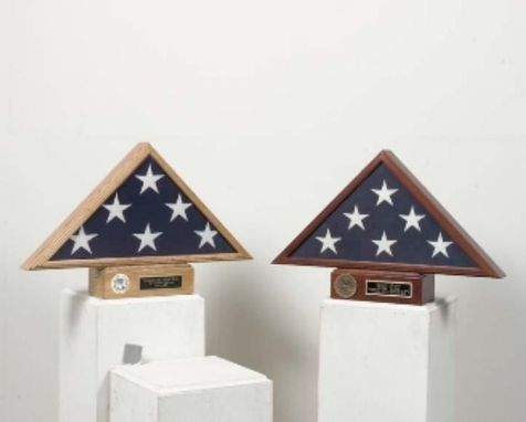 Custom Made Burial Flag Display And Pedestal Case - Flag Pedestal