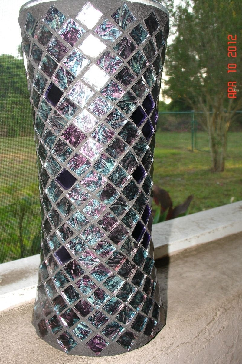Buy Custom Made Stained Glass Mosaic Vase Candle Holder