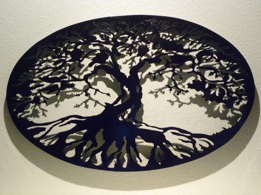 Custom Made Oval Tree Of Life Metal Wall Art